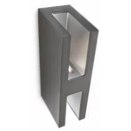 Philips Sunlounge 168199316 antraciet Ledino Outdoor wandlamp