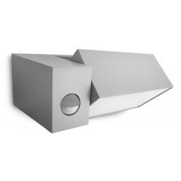 Philips Border 169438716 zilvergrijs sensor Ecomoods Outdoor wandlamp