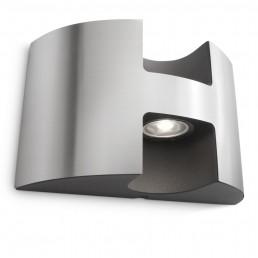 Aanbieding Philips Watermill 172544716 RVS Ledino Outdoor wandlamp