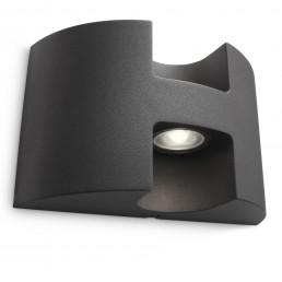 Aanbieding Philips Watermill 172549316 antraciet Ledino Outdoor wandlamp