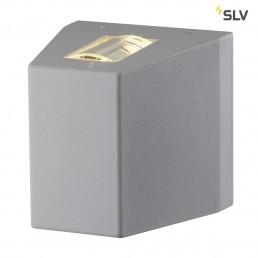 SLV 227020 Out- Beam R7s zilvergrijs wandlamp buiten