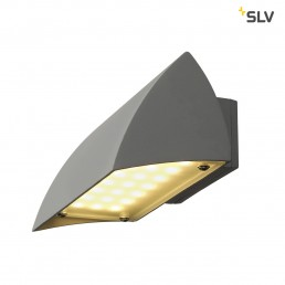 SLV 227054 Nova LED zilvergrijs wandlamp buiten