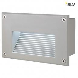 SLV 229701 Brick LED Downunder zilvergrijs led koelwit wand inbouwspot