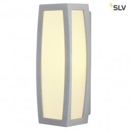SLV 230084 Meridian Box met sensor zilvergrijs wandlamp buiten