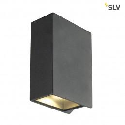 SLV 232445 Quad 2 XL LED Up & Down antraciet wandlamp buiten