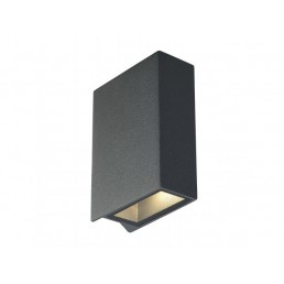 Aanbieding SLV 232471 Quad 2 Up & Down zwart / antraciet wandlamp