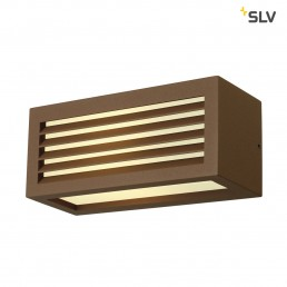 SLV 232497 Box-L E27 roest kleur wandlamp buiten