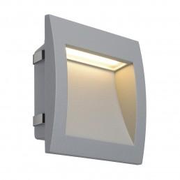 SLV 233614 Downunder Out LED L zilvergrijs wand inbouwspot