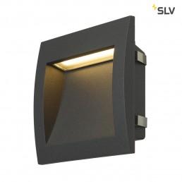 Actie SLV 233615 Downunder Out LED L antraciet wand inbouwspot