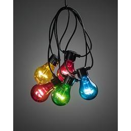2372-500 Konstsmide lichtsnoer gekleurde lampen op batterijen