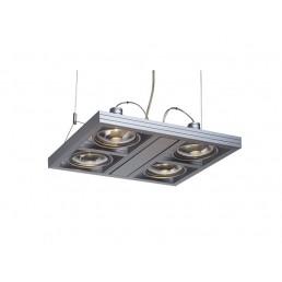 SLV 154372 Aixlight Square ES111 zilvergrijs hanglamp