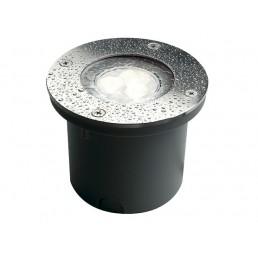 SLV 227431 Wetsy Power LED koelwit edelstaal rond grondspot buiten