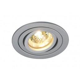 SLV 111449 Tria 2 Downlight zilvergrijs inbouwspot