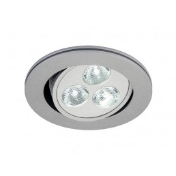 SLV 111851 Triton zilvergrijs 3 LED wit inbouwspot