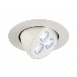 SLV 113601 Triton wit 3 Gimble LED wit inbouwspot
