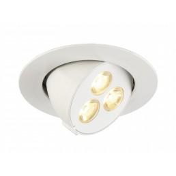 SLV 113602 Triton wit 3 Gimble LED warmwit inbouwspot
