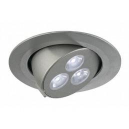 SLV 113611 Triton zilver 3 Gimble LED wit inbouwspot