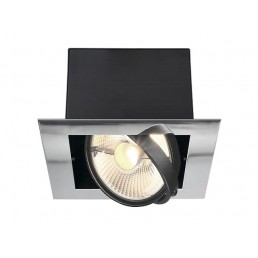 Aanbieding SLV 154602 Aixlight Flat single ES111 chroom inbouwspot