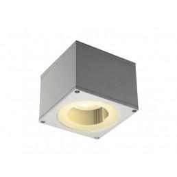 SLV 229994 Big Theo Wall Out GX53 zilvergrijs wandlamp buiten