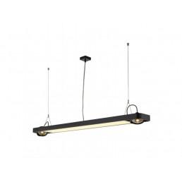 SLV 159100 Aixlight R2 Office T5, 39W zwart kantoorverlichting