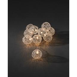 3148-103 Konstsmide 16 aluminium ballen met led