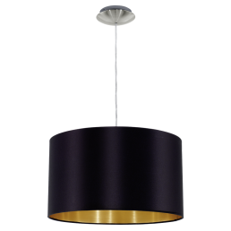 31599 Eglo Maserlo zwart / goud hanglamp