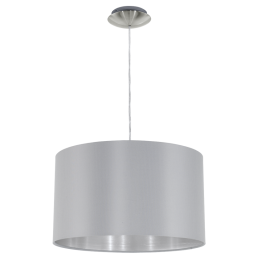 31601 Eglo Maserlo grijs / zilver hanglamp