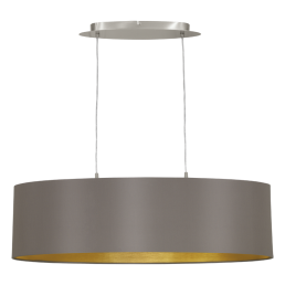 31614 Eglo Maserlo cappucino / goud hanglamp