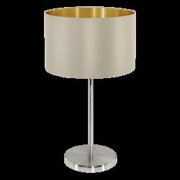 31629 Eglo Maserlo taupe / goud tafellamp