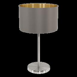 31631 Eglo Maserlo cappucino / goud tafellamp