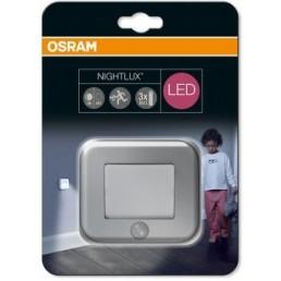 Osram Nightlux nachtlampje wand met sensor zilvergrijs