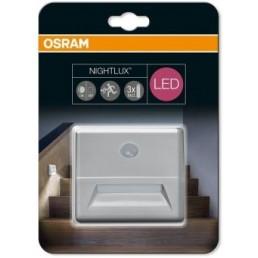 Osram Nightlux wand nachtlampje met sensor zilvergrijs