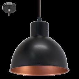 Actie 49238 Eglo Truro 1 Vintage hanglamp zwart