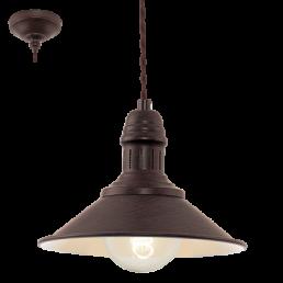 Actie 49455 Eglo Stockbury Vintage hanglamp beige