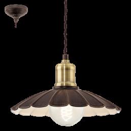 49461 Eglo Hemington Vintage hanglamp zwart