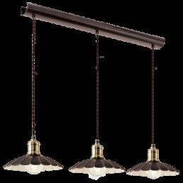 49463 Eglo Hemington Vintage hanglamp zwart