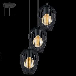 49479 Eglo Newtown Vintage hanglamp zwart