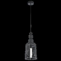 49497 Eglo Carterham Vintage hanglamp zwart