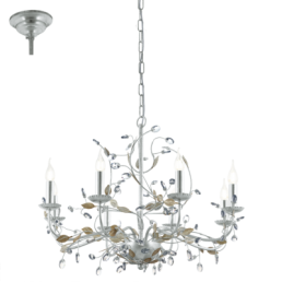 49829 Eglo Flitwick 1 Vintage hanglamp zilver