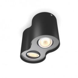 5633230P7 Philips Pillar Hue zwart 2-lichts plafondspot