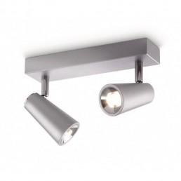 Aanbieding Philips Ledino Deltys 56462/48/16 led plafondlamp zilvergrijs