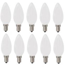 10-pack kaars gloeilamp mat Standard 40W E14 230V B35