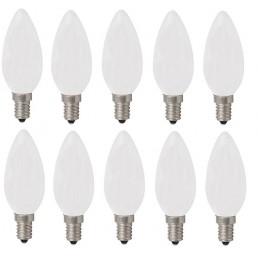 10-pack kaars gloeilamp mat Standard 25W E14 230V B35