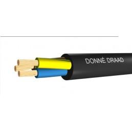 1,0mtr Donné aansluitsnoer 3 x 1,5mm VMVL ECA zwart