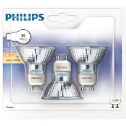 3 stuks halogeenlamp GU10 50W Philips