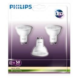 3-pack GU10 led lamp 5W (50W) Philips