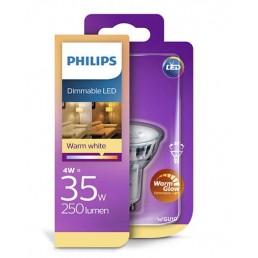 Philips led lamp GU10 4W (35W) dimbaar Warmglow