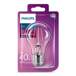 Philips LED filament lamp E27 4W (40W)