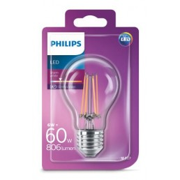 Philips LED filament lamp E27 6W (60W)