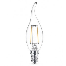 Philips LED filament lamp E14 2W (25W) kaars met tip